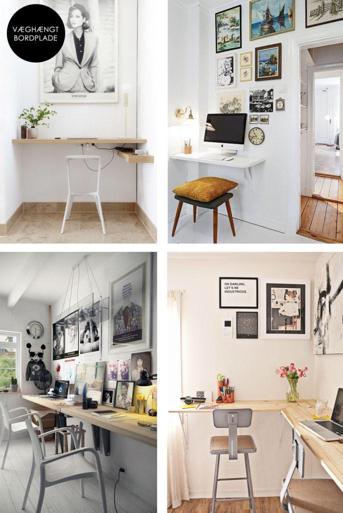 Simpelt og pladsbesparende hjemmekontor