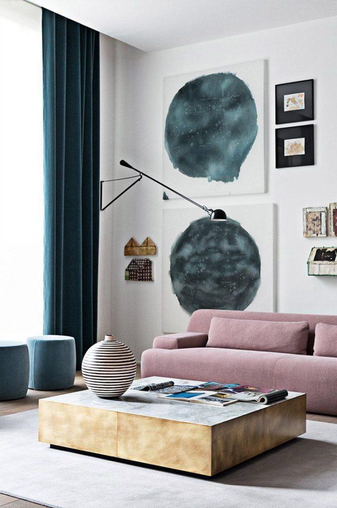 Picture of: Indretning Af Stue Med Farvet Sofa Boliginspiration