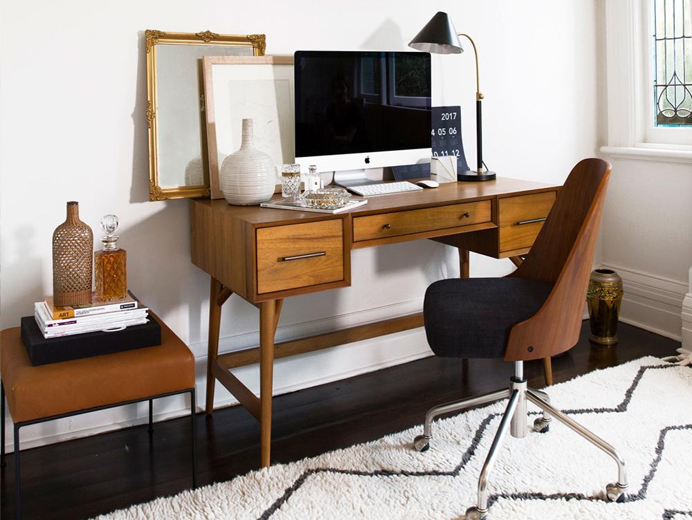 vintage stil i din kontorindretning bolig inspiration. Black Bedroom Furniture Sets. Home Design Ideas