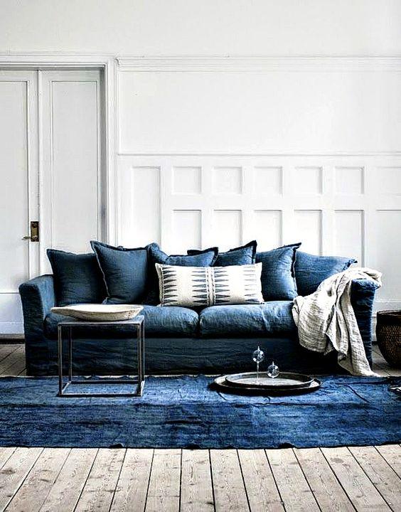 Nytt Indretning af stue med farvet sofa - boliginspiration VD-18
