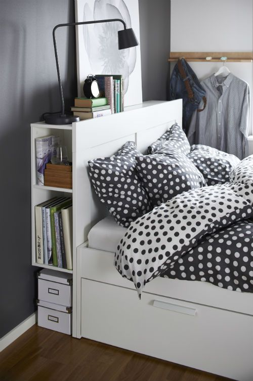 indretning af sovev relse med opbevaring i seng. Black Bedroom Furniture Sets. Home Design Ideas