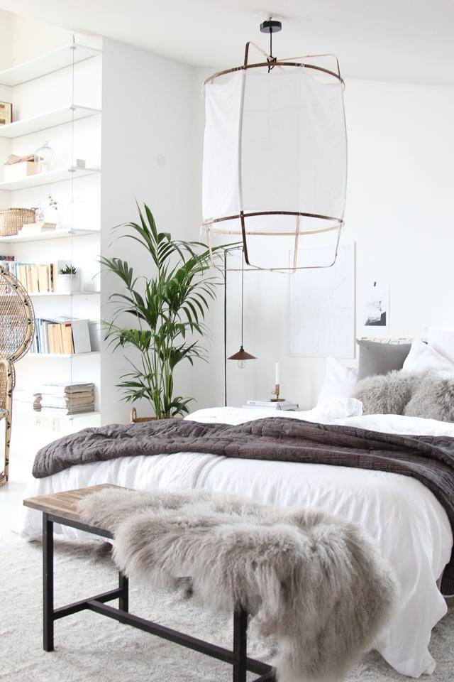 Indretning af soveværelse med lækre tekstiler - boliginspiration