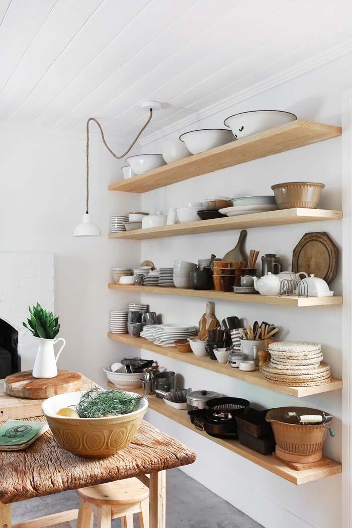 Storslået Åbne hylder i køkkenet LR45