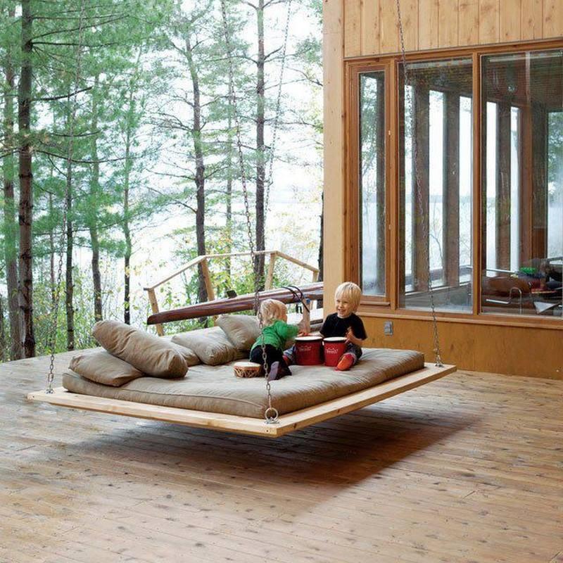 Opdateret DIY idé til interiør til haven - gynge seng PW25