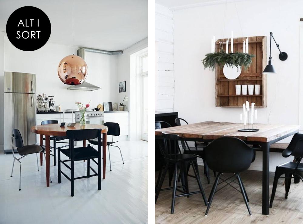forskellige spisebordsstole