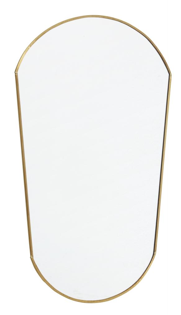 Frisk frugt Aflangt spejl i gylden ramme - Altomindretning.dk RM76