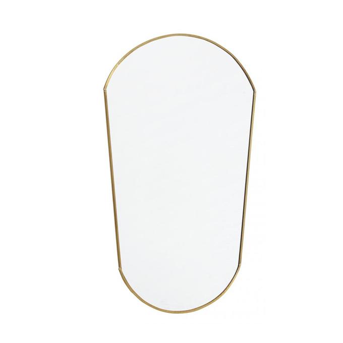 ovalt spejl ovalt spejl nordal messing   Altomindretning.dk ovalt spejl
