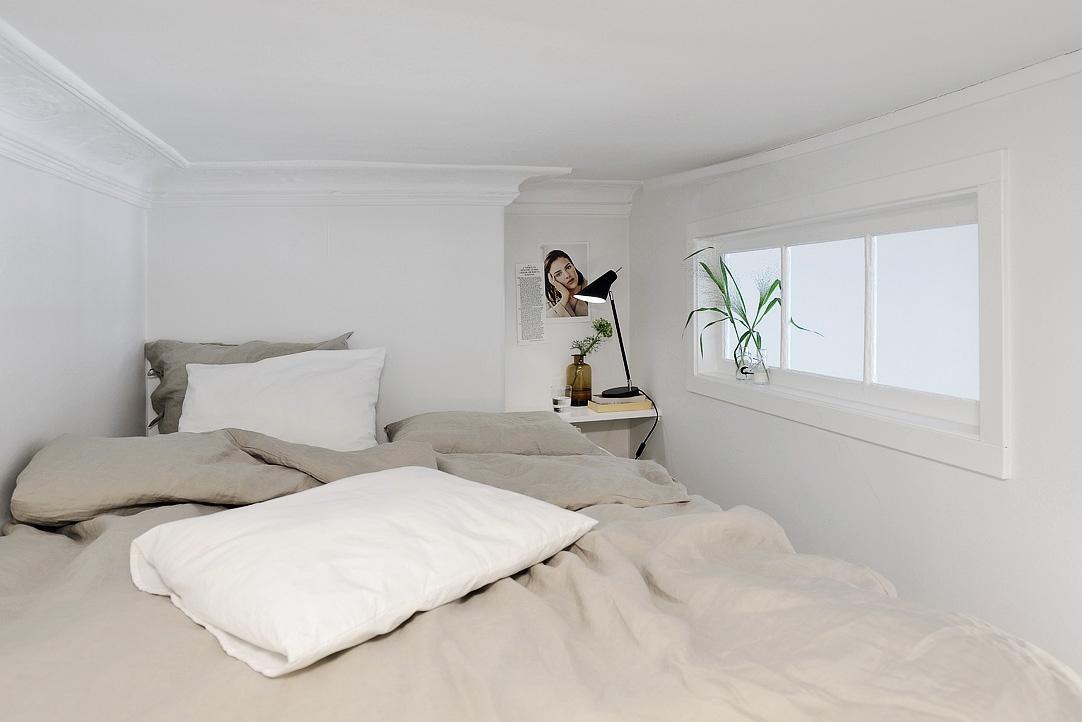 indretning af lille soveværelse En studielejlighed med et utraditionelt soveværelse   indretning af lille soveværelse