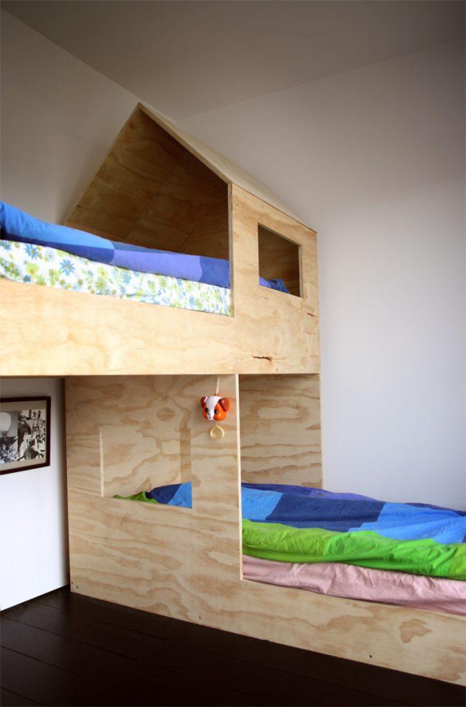 Mini hus i børneværelset   altomindretning.dk