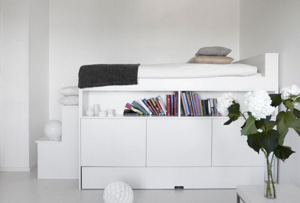 Inspiration til indretning af soveværelse med sengeopbevaring