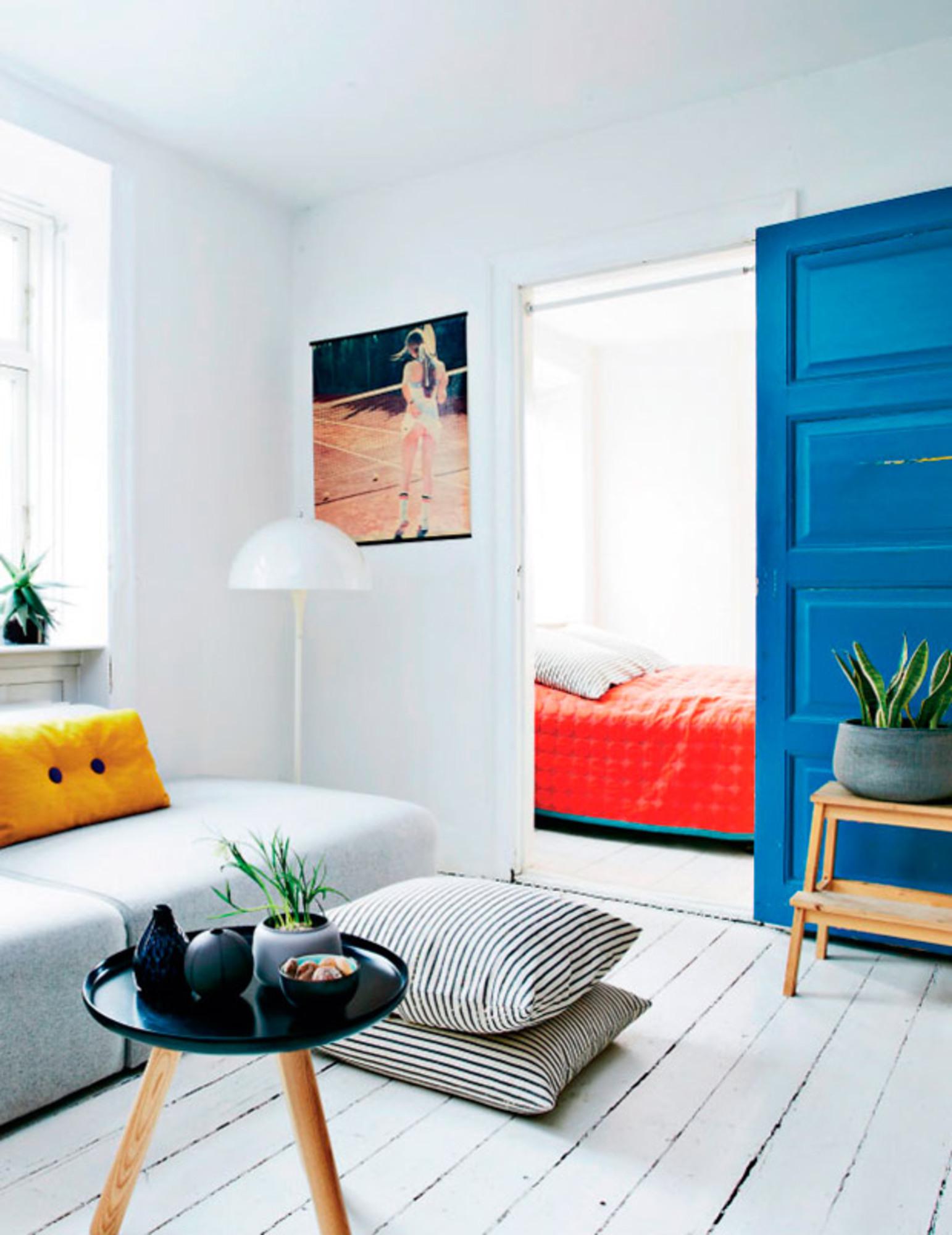 Idé til indretningen   en farvet dør