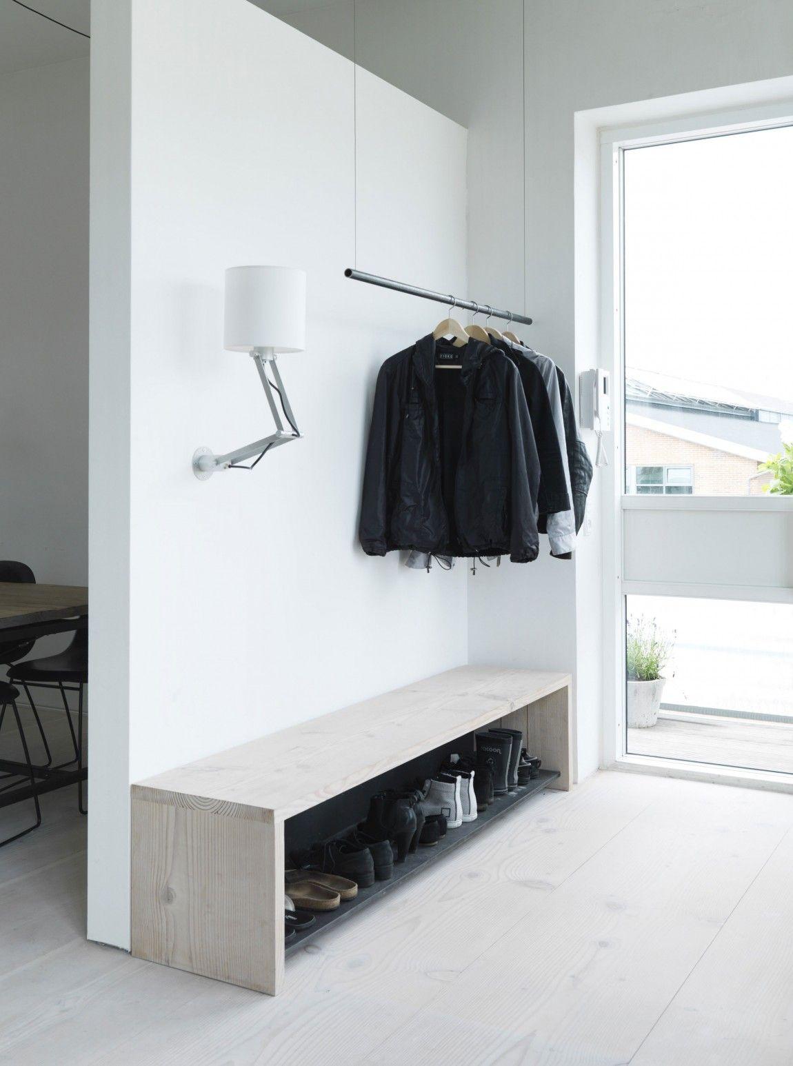 Ekstra 10 ideer til indretning af entré med en bænk - EW-35