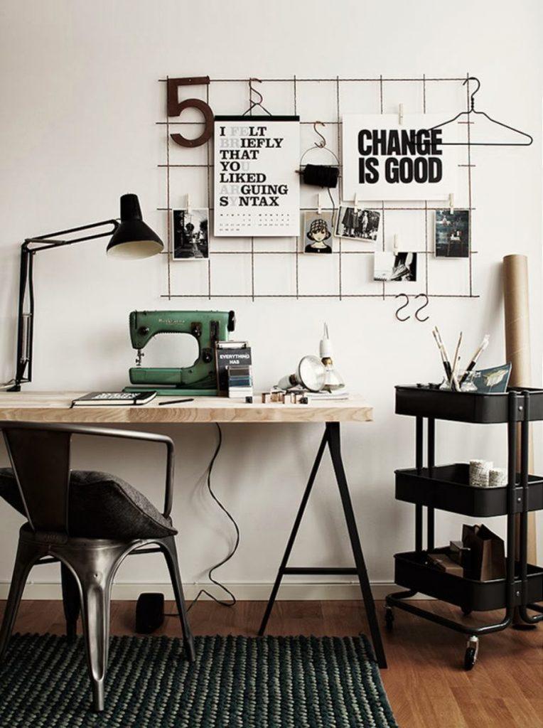 Indretning_kontor_wirevaeg_dekoration_ide_Altomindretning_2