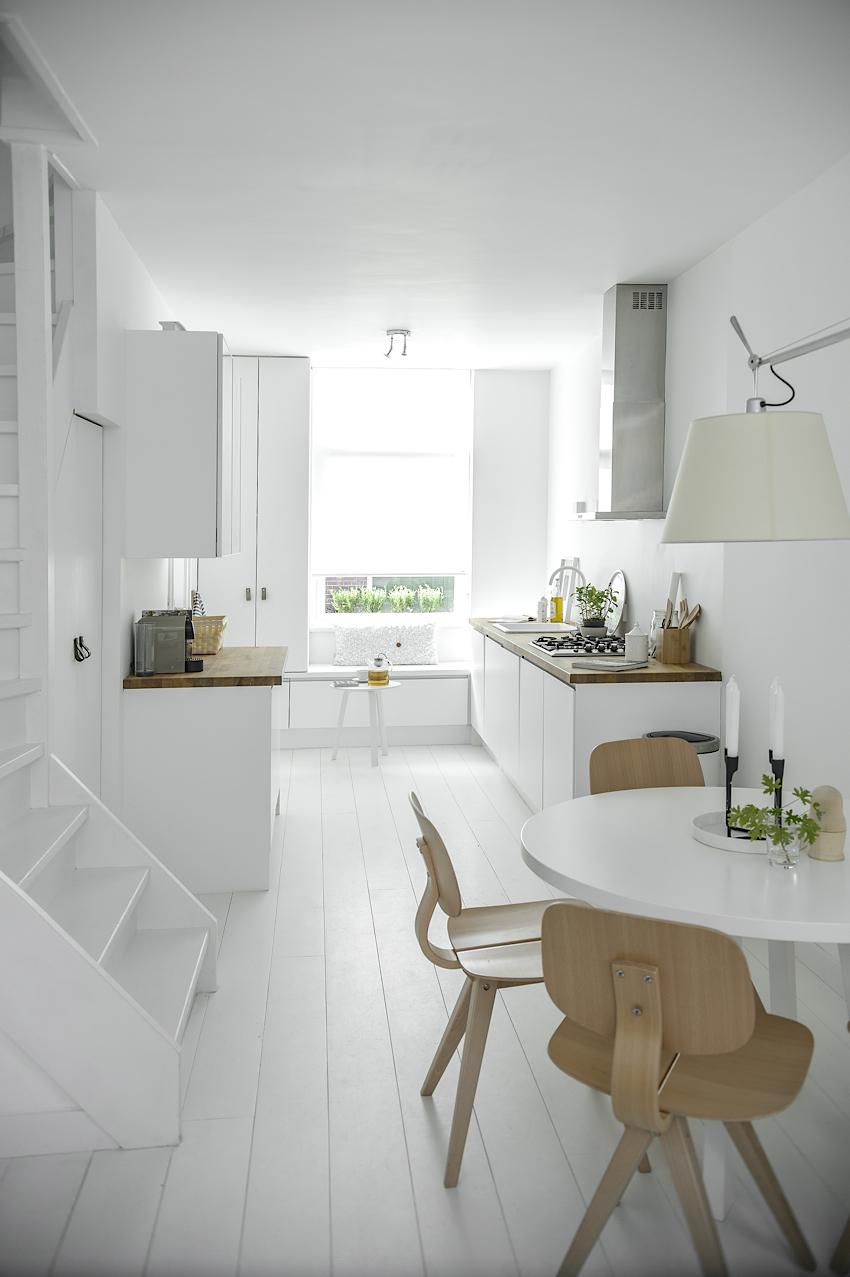 Indretning af spisestue med rundt spisebord | Moderne