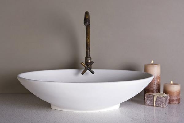 håndvask til badeværelse Indretning af badeværelse med rund vask håndvask til badeværelse