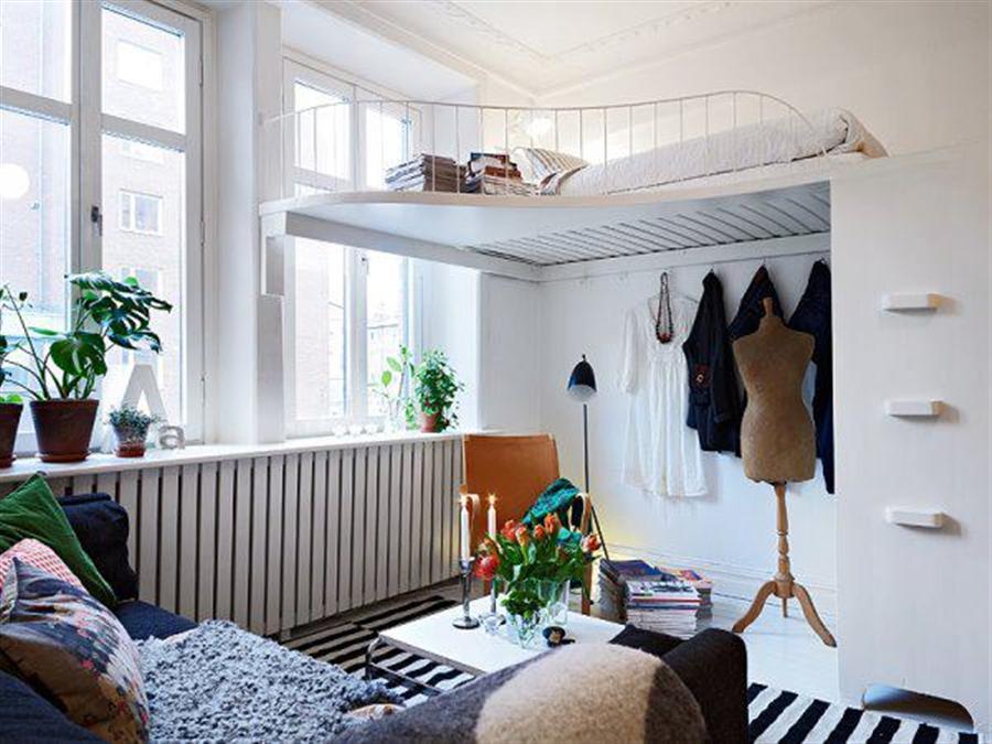 soveplads i stuen