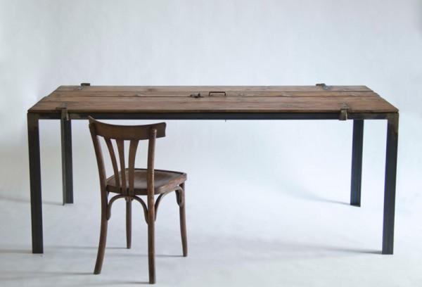 Arbejdsbord med et råt look   altomindretning.dk