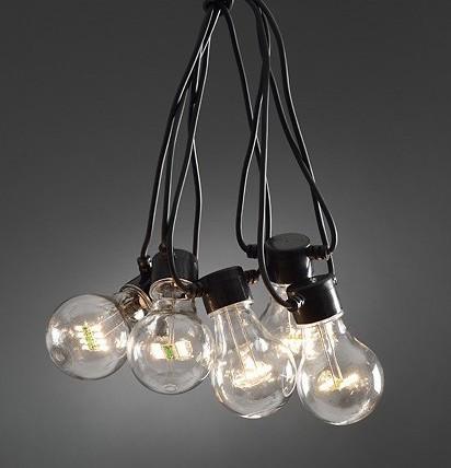 Topmoderne Lyskæde LED i sort PG-69